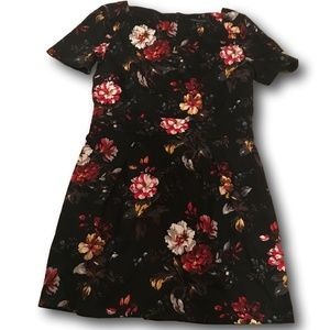 Womens French Connection Black Floral Dress 16